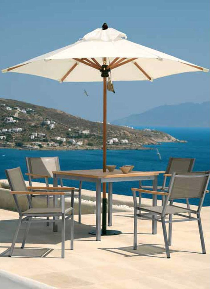 british brand barlow tyrie produces a range of sophisticated modern outdoor furniture including outdoor dining