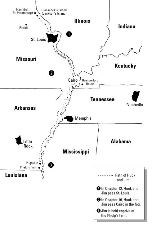 huckleberry finn map - Google Search