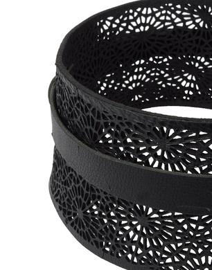 laser cut leather belt Haider Ackerman