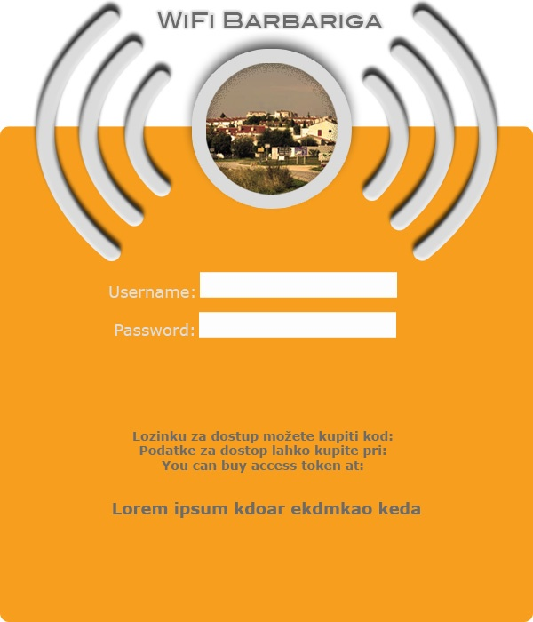 Login Page Design For Wireless Network