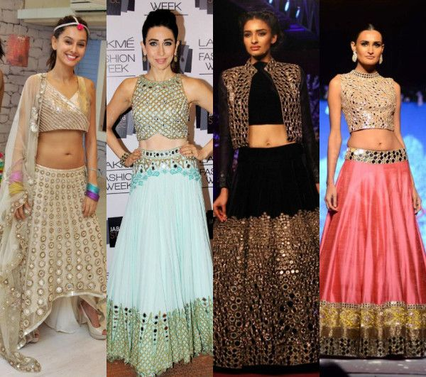Dazzling mirror embroidered lehengas to steal your hearts!