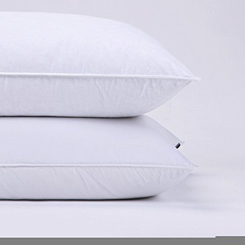 Puredown Goose Feather and Down Pillow, Standard Size Bed pillows, Set of 2 //http://bestadjustablebed.us/product/puredown-goose-feather-and-down-pillow-standard-size-bed-pillows-set-of-2/