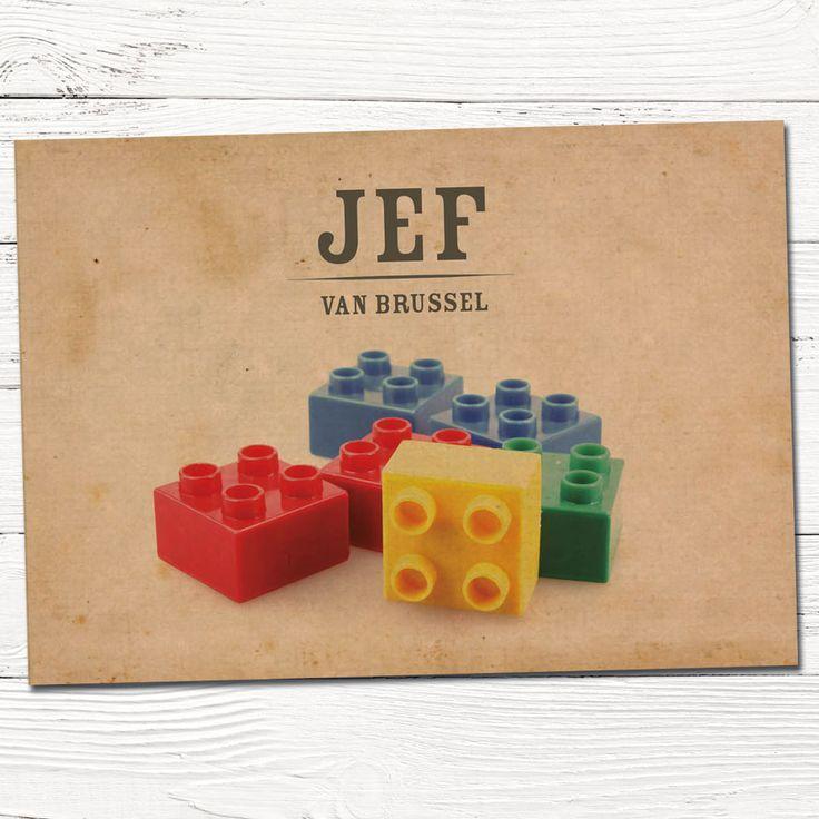 Geboortekaartje retro duplo blokjes | design op maat | grafisch | ontwerp | babykaartjes | foto