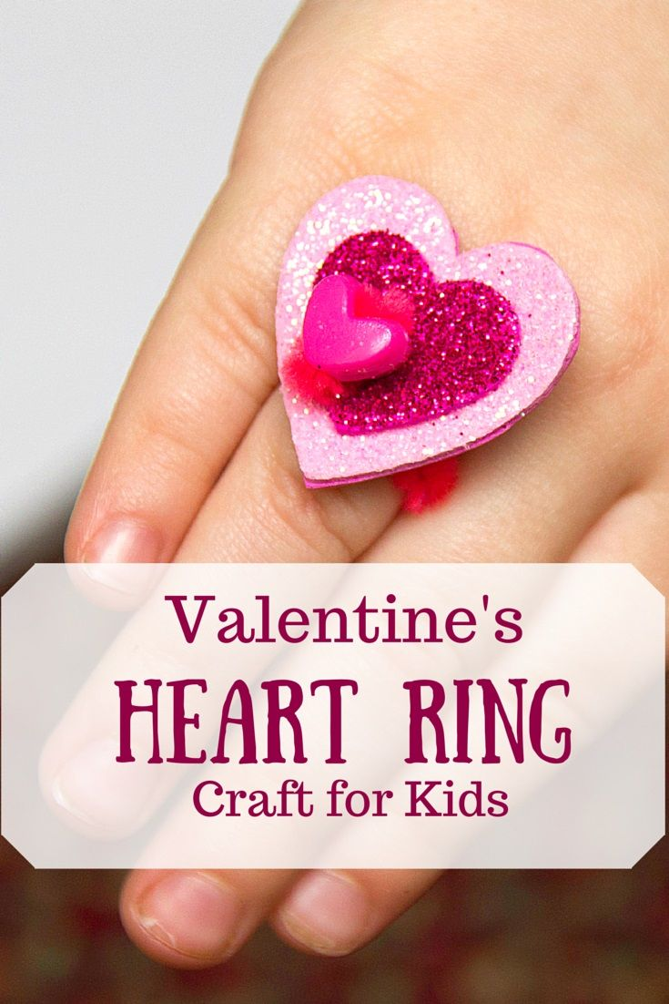 Valentine crafts for kindergarteners - Easy Heart Ring Craft For Kids