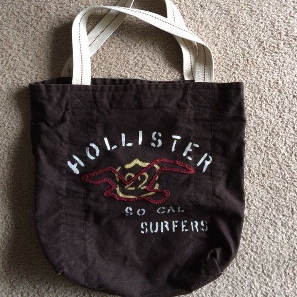 Hollister Tote Bag Used here and there a few times. In good condition. There is a small pocket inside. Hollister Bags Totes