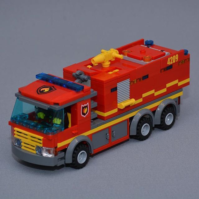 lego duplo fire truck instructions