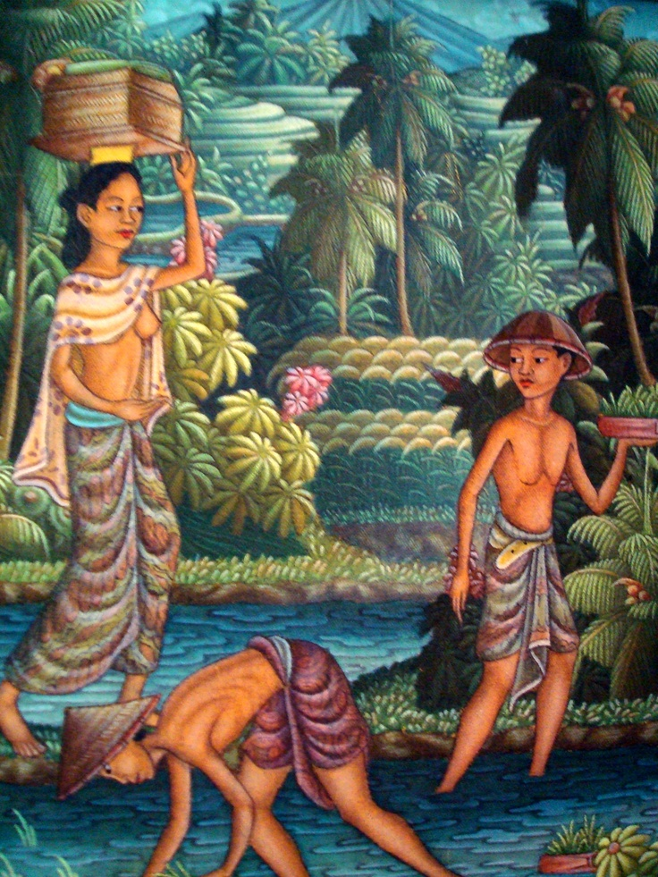 Photo of painting I bought in Bali many years ago that I love.
