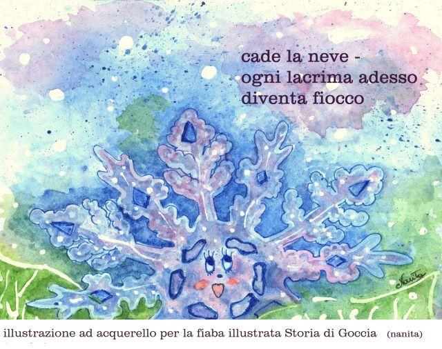 Storia di Goccia acquerello Valentina Meloni