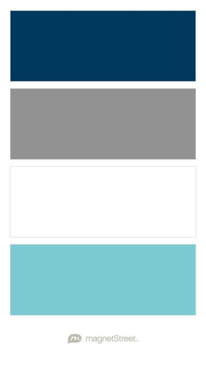 Navy, Classic Gray, White, and Turquoise Nursery Color Palette - custom color palette created at MagnetStreet.com