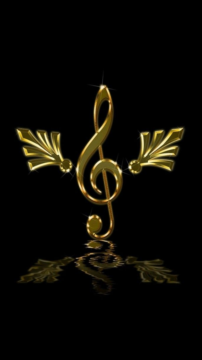 Wallpaper Musical Note Black Gold Music Images Dance