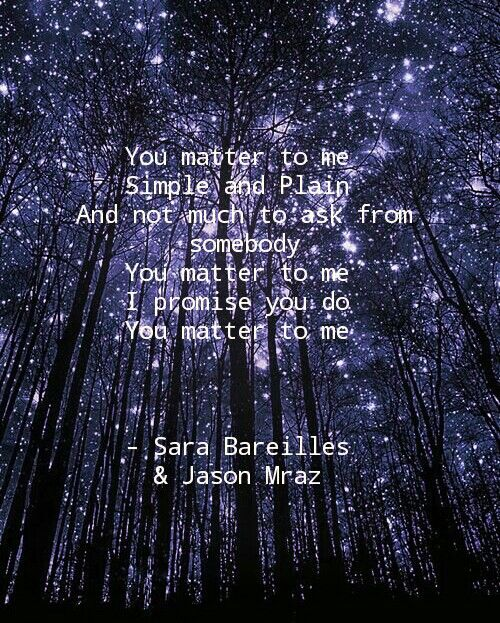 """""""You Matter to Me"""" by Sara Bareilles and Jason Mraz from the musical """"Waitress"""""""