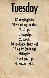 TUESDAY WORKOUT