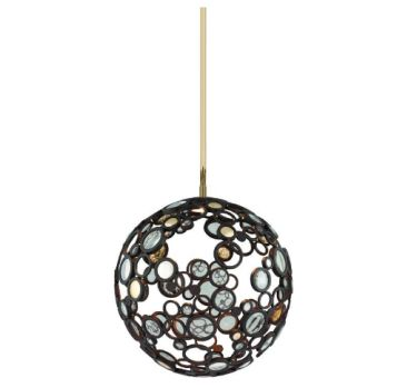 This week's #lighting feature: This one light pendant is part of the fathom collection and has a bronze with polished B finish. http://www.sescolite.com/brand-corbett/1lt-pendant/188-41/sku-8MN5 #Sescolite #lighting #Toronto