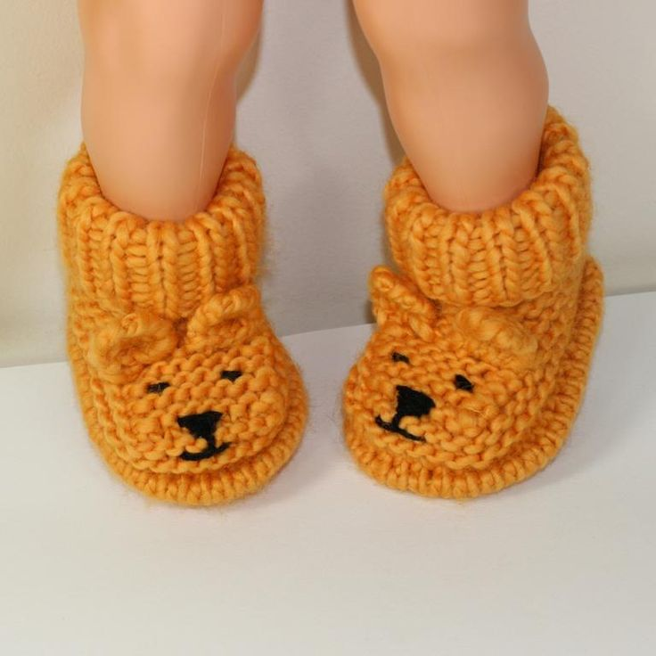 Looking for your next project? You're going to love Baby Teddy Bear Booties by designer madmonkeyknits. - via @Craftsy