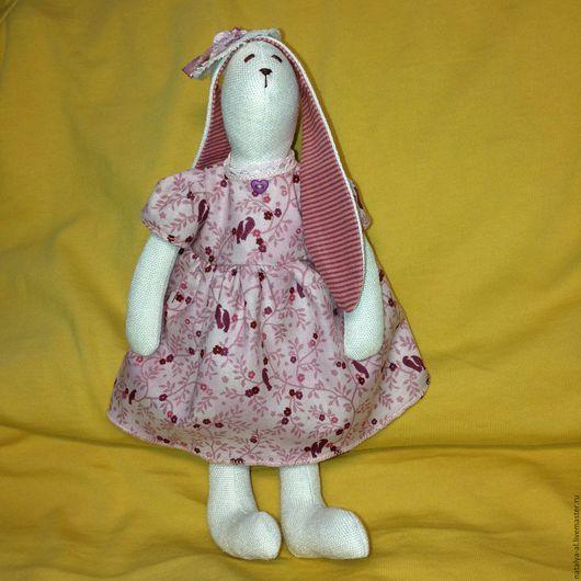 Куклы Тильды ручной работы. Ярмарка Мастеров - ручная работа. Купить Интерьерная кукла зайка-тильда Алина. Handmade. Бордовый