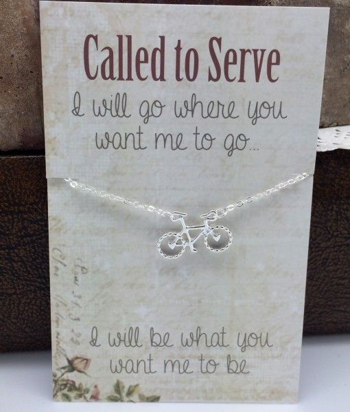 Called to Serve Missionary Necklace Bike Necklace
