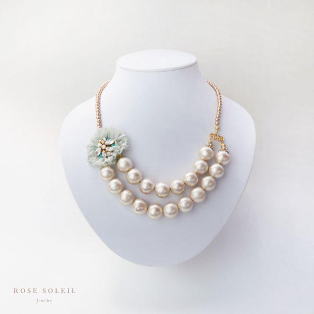 Rose Soleil Jewelry Tropical Sky Collection | ローズソレイユジュエリー ✧ コットンシルクネックレス ✧ トロピカルスカイコレクション