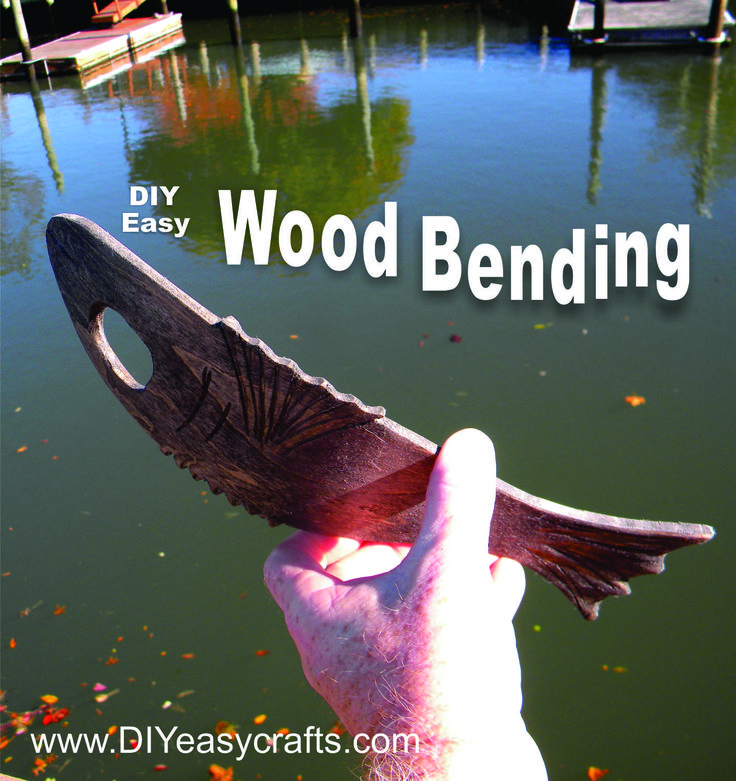 DIY How to Bend Wood The Easy Way, no Steam Box Needed.   http://www.diyeasycrafts.com