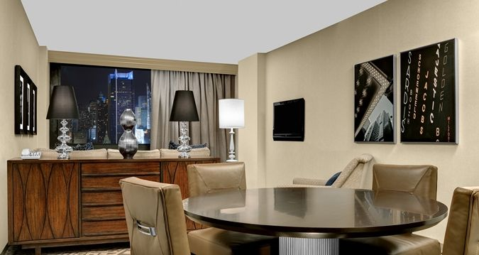 Hilton Times Square Hotel, New York, NY - ADA King 1 Bedroom Suite Living Area | NY 10036