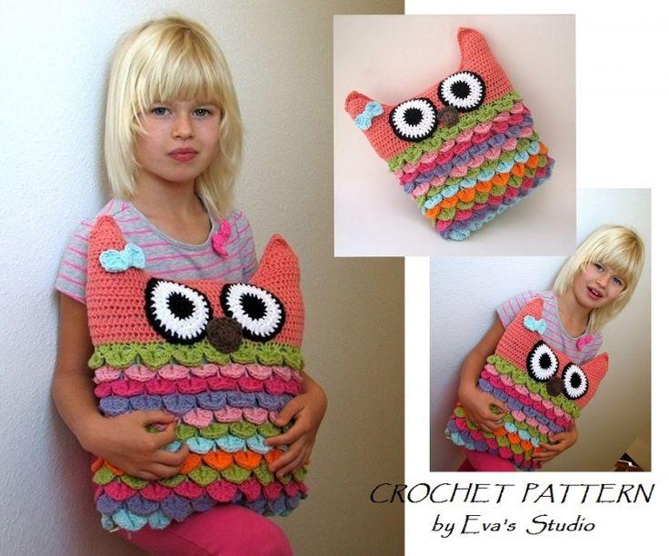 Owl Pillow Crochet Pattern