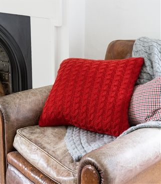Pure Wool Chunky Cable Cushion Cover