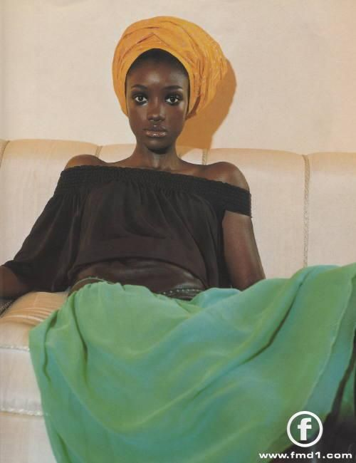 yellow dress on dark skin religions