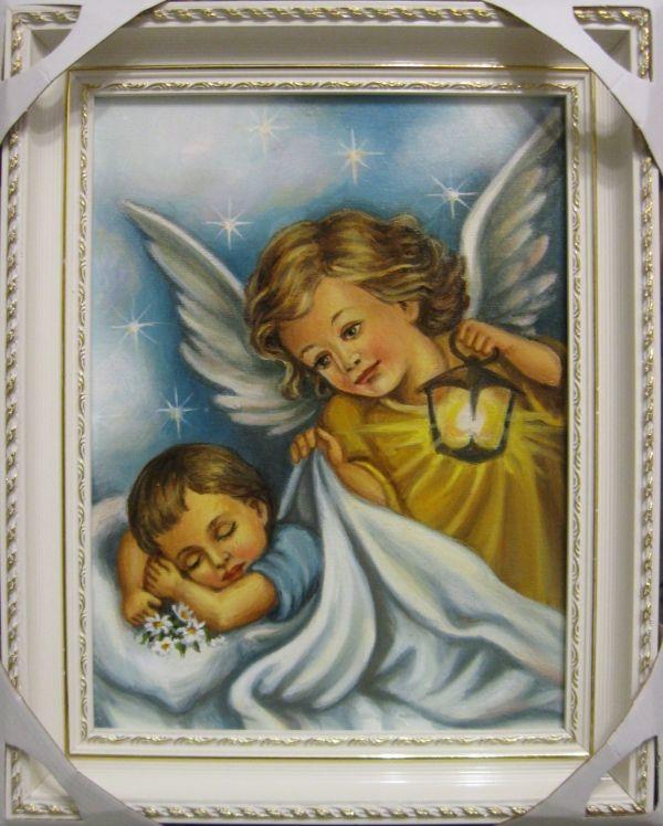 Ангел с фонариком (холст,масло)-художник Ядвига Сенько
