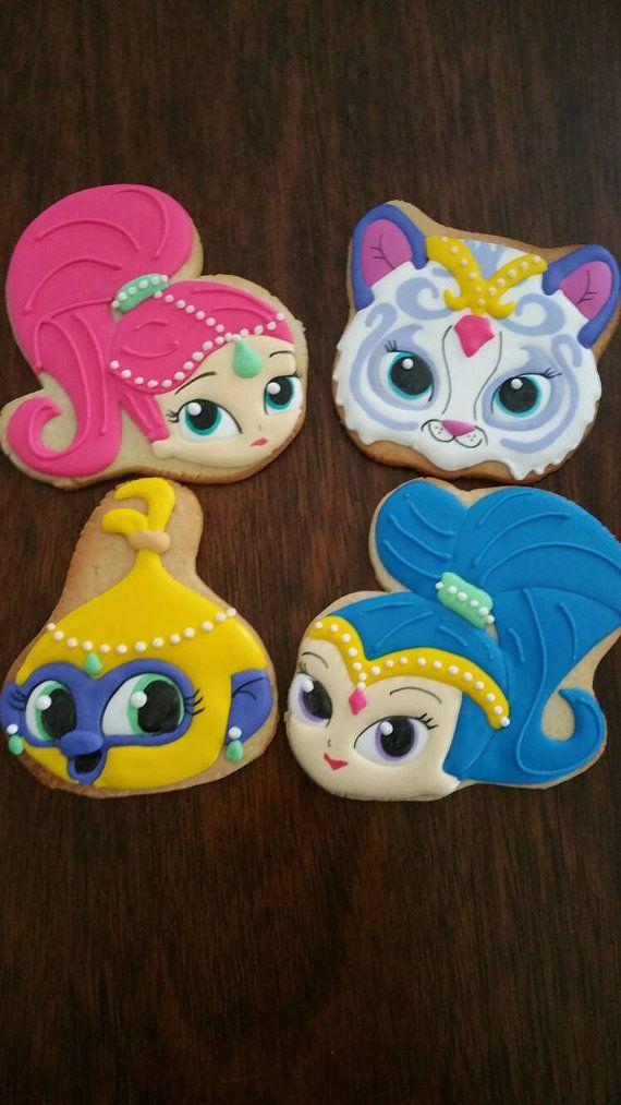 Shimmer and Shine Cookies by Ladybugcakesdotcom on Etsy