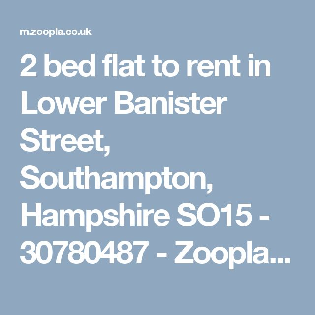 2 bed flat to rent in Lower Banister Street, Southampton, Hampshire SO15 - 30780487 - Zoopla Mobile