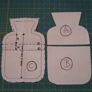 Hot Water Bottle Cover Tutorial and Pattern!great easy pattern to follow. Thank you, Rachael
