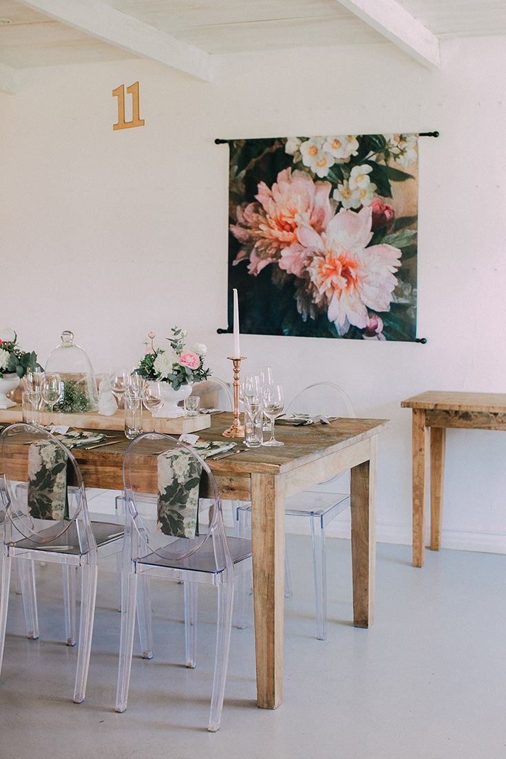I love these stunning floral backdrops used at this wedding reception!