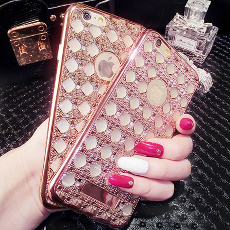 Luxury Gold Bling Glitter Plating Diamond Phone Cases For iPhone 5 5s SE 6 6S 7 Phone 6 7 Plus Soft TPU Back Cover | iPhone Covers Online