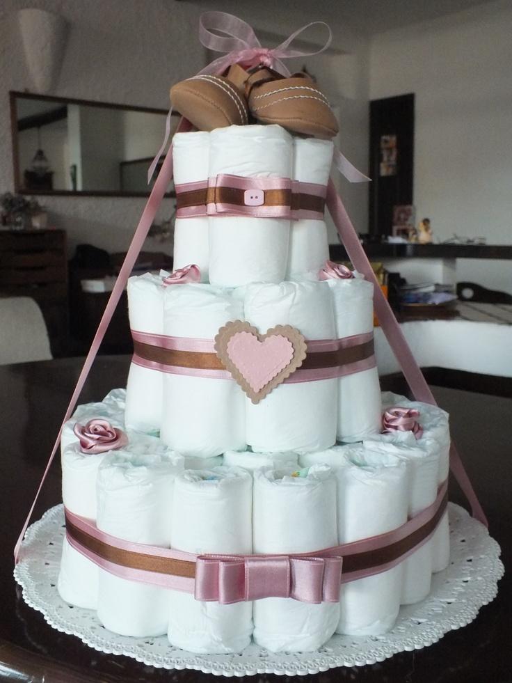 torta pannolini - diapers cake  newborn baby