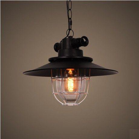 Industrial Loft Style Iron Glass Droplight Edison Vintage Pendant Light Fixtures For Dining Room Hanging Lamp Indoor Lighting #Affiliate