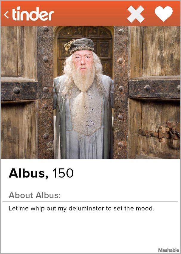 If Albus Dumbledore had a Tinder profile.