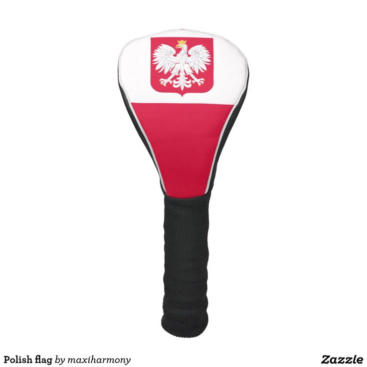 Polish flag golf head cover