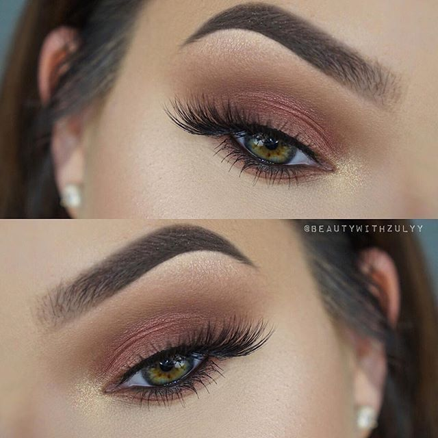 "Beautiful look @beautywithzulyy  EYES: Master Palette by Mario & for highlight Ultimate Glow Kit ""White Sand""  FOUNDATION: ABH Stick Foundation in ""Golden"" to contour and ""Ivory"" to highlight  #anastasiabeverlyhills"