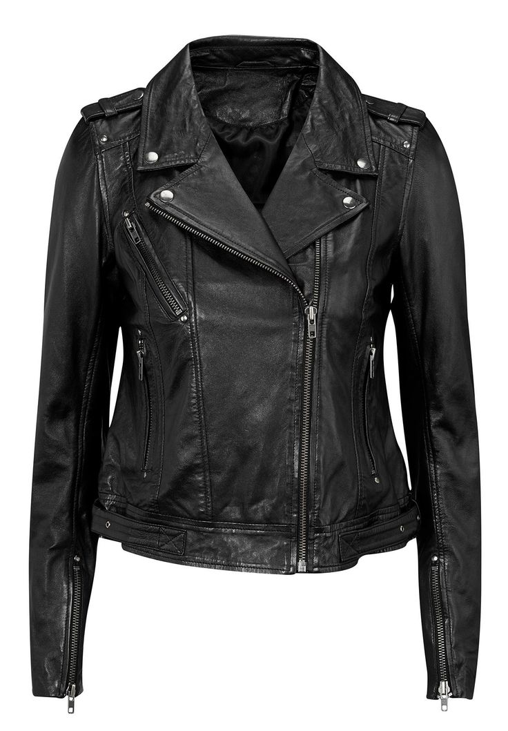 I am not badass enough for this, but it's still cool. Plus Size Classic leather-look jacket
