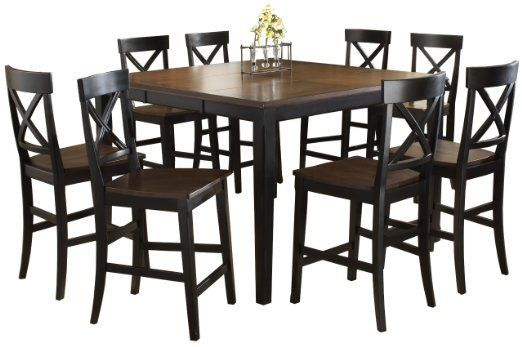 Amazon.com: Hillsdale Englewood 9-Piece Counter Height Dining Set: Home & Kitchen