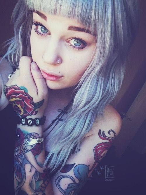 42 best images about coiffure et beaut on pinterest emo for Hair tattoo for girl