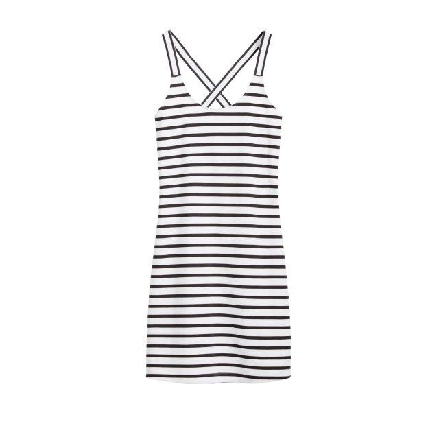 Sandwich Clothing Striped Longline Vest Top Black
