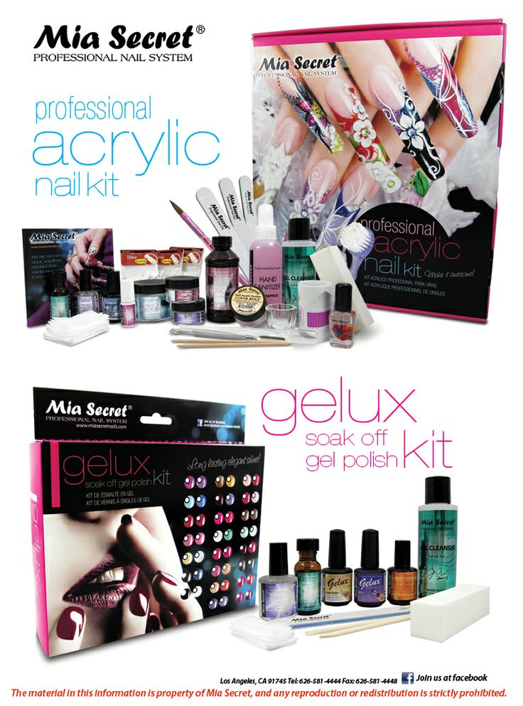 Professional Acrylic Nail Kit Gelux Kit by #MiaSecret