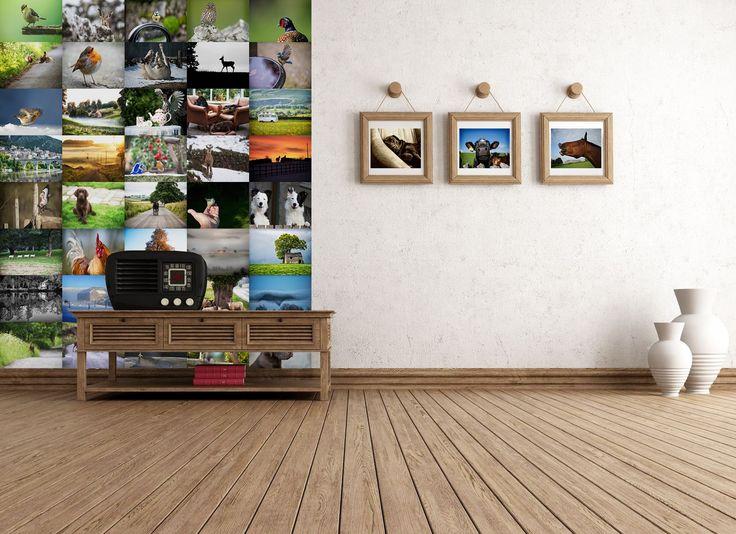 Kreativní koláž na stěnu! Papírová kreativní koláž Vesnice se 64ks paíru o velikosti 37,5×27,5cm. Nechte se unést fantazií a vytvořte si na stěně v obýváku, ložnici nebo dětském pokoji originální koláž. Fantazii se meze nekladou.
