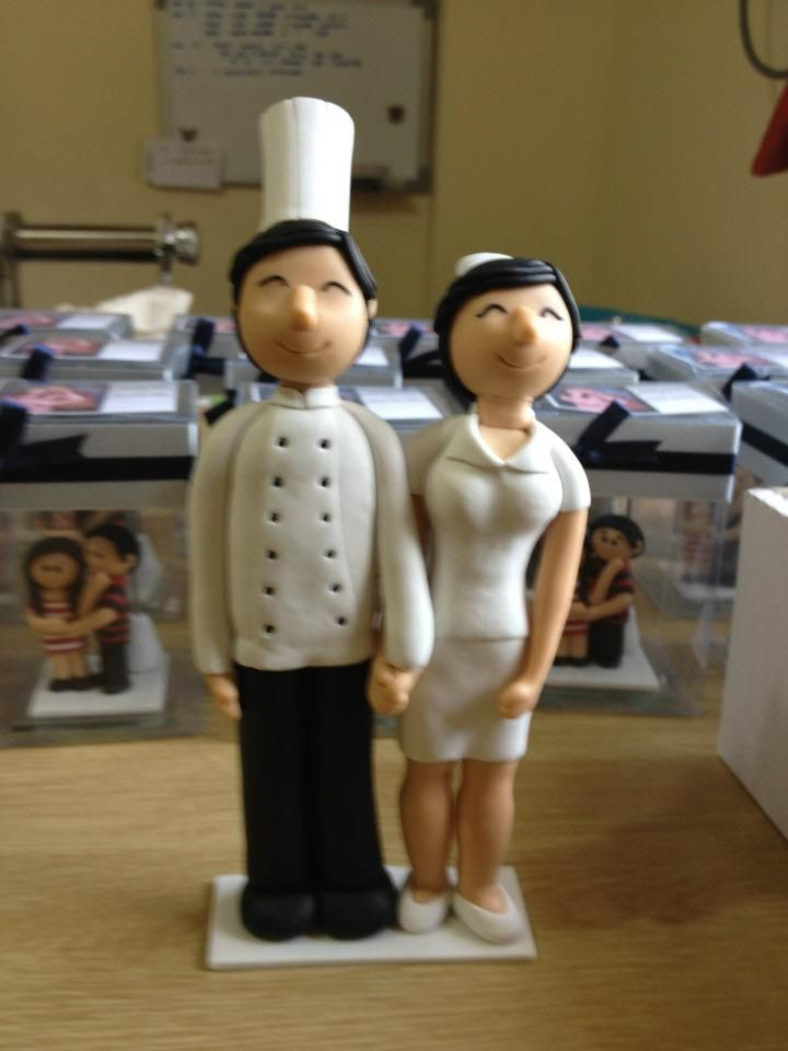chef wedding cake toppers 6 quot wedding cake topper groom chef and bits 12633