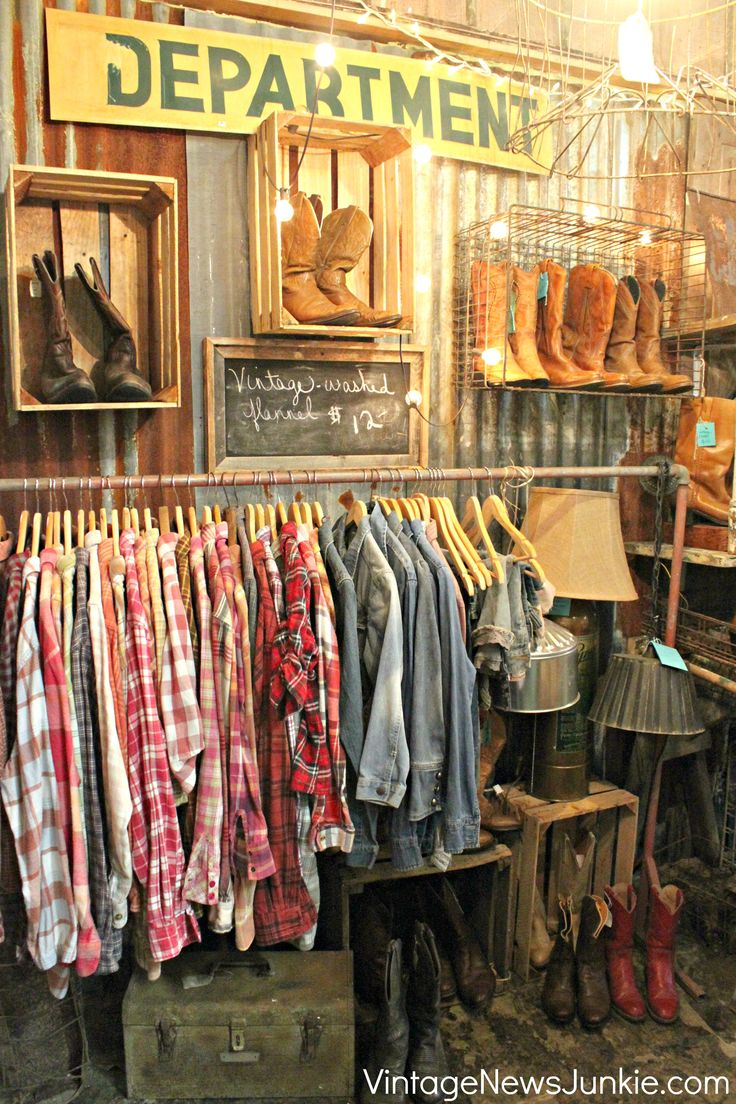 i just LOVE this! and i want ALL those flannels! vintage rustic country farmhouse