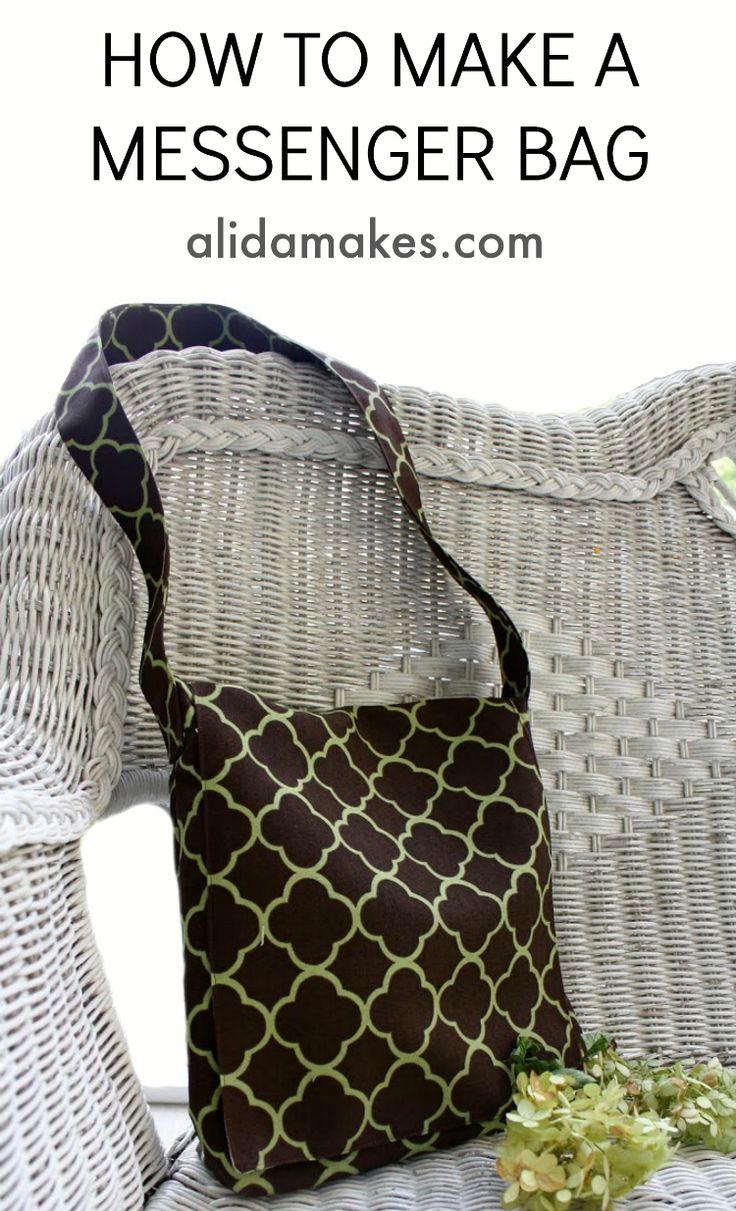Messenger bag TUTORIAL!   Alida Makes