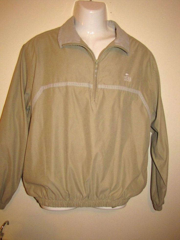 Pebble Beach Pullover Windbreaker Golf Jacket 1/4 Zipper Front Water Resistant #PebbleBeach #Windbreaker