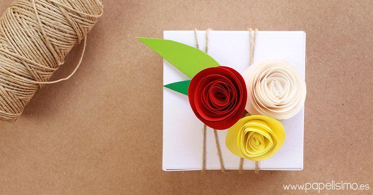 Cajas-originales-regalo-cartulina-con-flores-y-cuerda