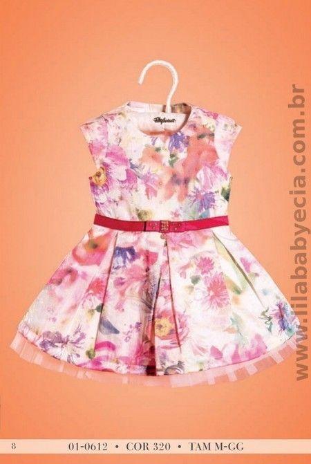 Vestido Infatil Estampado Diforini Moda Infanto Juvenil