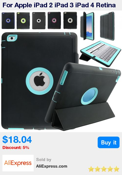 For Apple iPad 2 iPad 3 iPad 4 Retina Kids Safe Armor Shockproof Heavy Duty Silicone Hard Case Cover w/Screen Protector Film * Pub Date: 14:43 Jul 4 2017